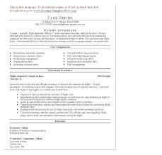 flight attendant resume template corporate flight attendant resume