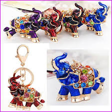 acrylic elephant ring holder images Thailand elephant lucky keychain key chain key ring holder car jpg