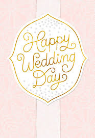 wedding day congratulations send this studio ink wedding card with gold script lettering to a