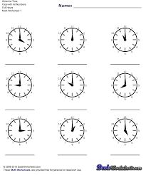72 best maths images on pinterest telling time free printables