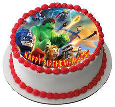 themed cake decorations lego marvel superheroes edible birthday cake or cupcake topper
