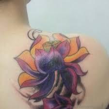 90 cute lotus flower tattoos on shoulder