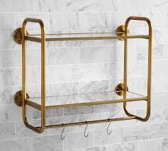 Shelves For Bathroom Walls Bathroom Wall Shelves Pottery Barn