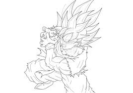 dragon ball z super saiyan god coloring pages printable of goku