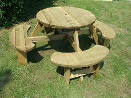 Great Easy Picnic Table Octagon Picnic Table Plans Easy To Do Ebay by Pub Garden Tables Ebay