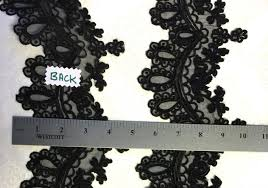 black lace trim vintage black beaded sequin embroidery ribbon lace trim pearl