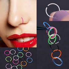 colored nose rings images 40pcs colorful nose ring stainless steel piercing lip hoop nose jpg