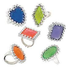 plastic rings images Plastic gem ring party favors assorted 12ct kitchen jpg