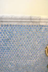Tile Bathroom Wall by Best 20 Blue Penny Tile Ideas On Pinterest Subway Tile Showers