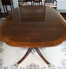 baker furniture duncan phyfe style mahogany dining table ebth