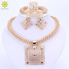 big necklace sets images Fashion jewelry sets big square pendant necklace earrings bracelet jpg