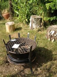 Bbq Firepit Recycled Car Wheel Bbq Pit Home Design Garden