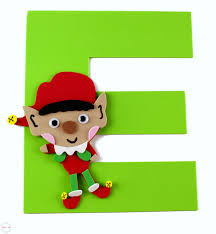 elf letter template letter of the week letter craft e is for elf must have mom