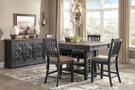 counter height dining room table the tyler creek black gray pc rectangular counter height dining set