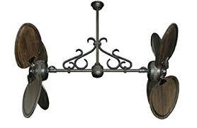 twin star ii ceiling fan twin star ii dual ceiling fan in oil rubbed bronze with 50 arbor