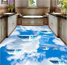 3d photo wallpaper custom waterproof 3d floor stickers island sky
