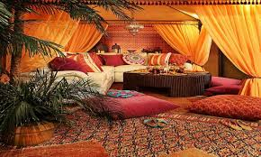 moroccan bedroom love the tile work colors and archways good for