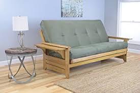 amazon com phoenix full size sofa futon butternut wood frame