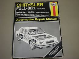 28 88 chrysler fifth avenue service manual 109182 1987
