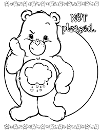 grumpy care bear coloring pages
