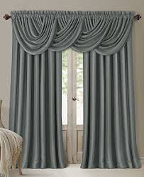 Valance And Curtains Elrene All Seasons Faux Silk Blackout Window Panel Collection