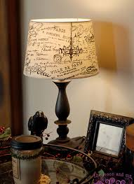 the moon and me diy french script lampshade copycat