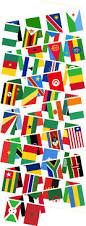 Afican Flag Buy African Nations Bunting African Countries Buntings Greens