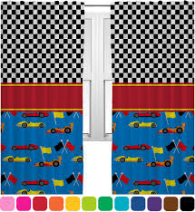 Racing Car Curtains 2 Panels Per Set Personalized Baby N Toddler