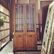 Antique Stained Glass Door by Doors Architectural Heritage