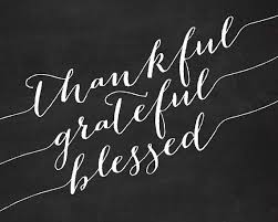 thankful grateful blessed typography print thanksgiving