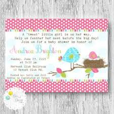 bloom bird birthday invitation garden party floral baby first