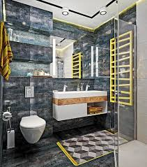 Bright Yellow Bathroom Rugs by Dynamic One Room Apartment Interior For Young People U0026 Fans Of Red
