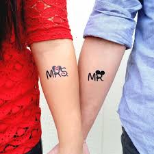 mrs and mr couple matching tattoos
