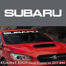 subaru wrx decal amazon com kaizen auto white windshield sticker banner decal