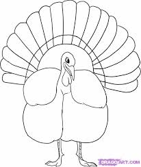how to draw a turkey step by step thanksgiving seasonal free