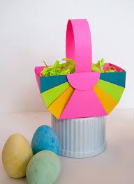 baskets for kids easy diy paper easter basket and astrobrights paper giveaway