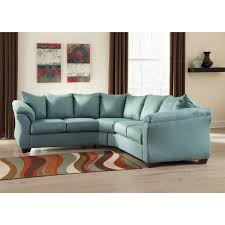 ashley furniture darcy sectional in sky local furniture outlet