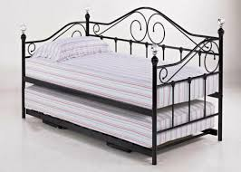 Wrought Iron Daybed Daybed Awesome Roll Out Twin Metal Trundle Bed Frame Black