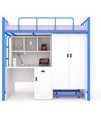 Bunk Bed With Study Table Unicos Jumbo Bunk Bed With Study Table In Blue Frosty White