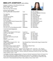 Sample Acting Resumes by How To Format Your Acting Resume 101 Breann Johnson