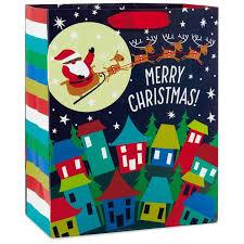 gift bags christmas american santa and sleigh large christmas gift bag 13