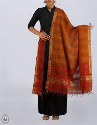 hues of orange online shop for casual orange mangalagiri cotton chunni