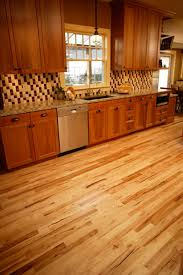 Hickory Wood Kitchen Cabinets Natural Hickory Floor Contrasts Well With Cabinets Not All The