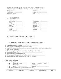 Contoh Format Askep Maternitas | format pengkajian keperawatan maternitas akper pemkab muna