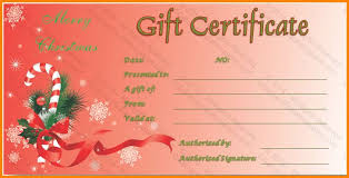 free christmas gift certificate templates christmas gift