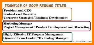 resume cv cover letter how resume title examplesresume title