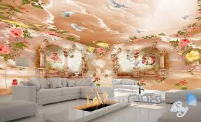 wallpaper for entire wall 3d rose flower angel arch entire living room wallpaper wall mural