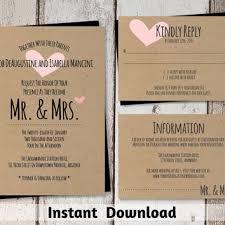 Kraft Paper Wedding Programs Best Mr And Mrs Wedding Invitations Products On Wanelo