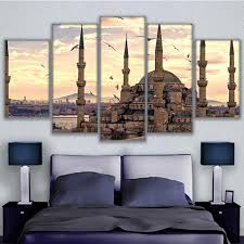 home decor paintings on canvas wall modular 5 panel sultan ahmed
