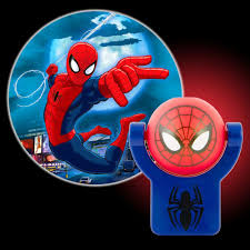 plug in projector night light projectables marvel spiderman automatic led night light 13341 the